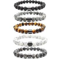 Men Women Natural Round Gemstone Bead Handmade Beads Charm Jewelry 8MM Bracelet