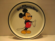 Vintage Walt Disney World Souvenir Serving Tin Tray Plate Mickey Mouse