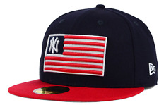 New York Yankees New Era 59Fifty MLB Navy Team USA Merica Cap Hat $36 Size 7 1/8