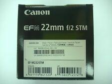 Canon EF-M 22mm f/2 STM Black Lens EF-M222STM