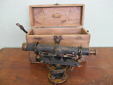 Vintage Antique David White Co # 8231 Transit Survey Surveyor Level + Wood Box