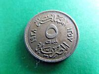 Egypt 1938 - 1357 5 Milliemes