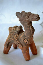 """ANTIQUE CHINESE TERRACOTA CAMEL, SCULPTURE, POTTERY. 4 1/2""""tall x 3""""L VERY RARE"""