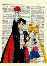 Sailor Moon Anime Dictionary Art Print Poster Picture Manga Book Tuxedo Mask