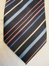 CEDARWOOD STATE BLUE PINK STRIPED 4 INCH POLYESTER MANS NECK TIE