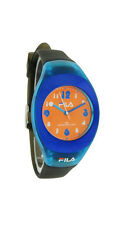 Fila Diretto Women's Oval Teal & Orange Carbon Silicone Analog Watch