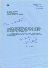 United Kingdom Falkland Islands William Hugh Fullerton 1939- signed letter 8x12""