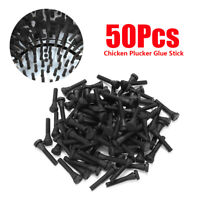 50Pcs Chicken Plucker Picker Poultry Fingers Duck Goose Hen Plucking Glue  .☆a