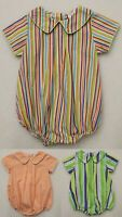 BABY BOY'S SHORT SLEEVE BUBBLE ROMPER SNAP CROTCH BOUTIQUE CLOSE OUT NEW