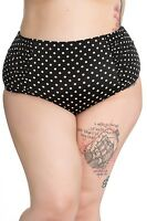 NEW POLKA DOT RETRO BIKINI PLUS SIZE UNDERWIRE BLACK SWIMMING 18 20 22 PIN UP