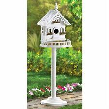 Freestanding Victorian Pedestal Bird House Yard Garden Outdoor Wildlife
