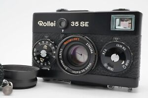 [EXC+5] Rollei 35SE Black Point & Shoot Film Camera w/ Strap Hood  From Japan