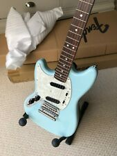 More details for left handed fender mustang guitar - sonic blue. made in japan special run