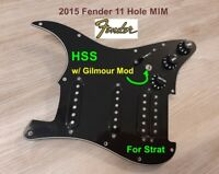 2015 FENDER® Strat HSS STRATOCASTER Pickguard Loaded w/ Gilmour MOD , NOT Squier