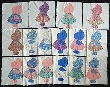 Vintage 1940 Sunbonnet Sue Quilt Blocks