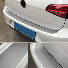 SILVER 4D Rear Bumper Trunk Tail Lip Carbon Fiber Protection Stickers Decal