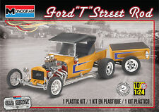 Monogram 4336 1:24th scale Ford model T Street Rod with Trailer