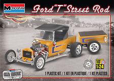 Monogram 4336 1:24th Escala Ford Modelo T Street Rod con remolque