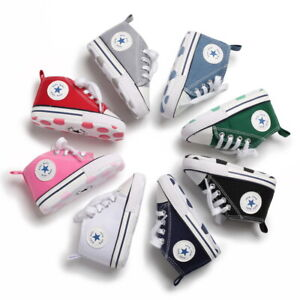 Classic Baby Boy Girl Crib Shoes Infant Sneakers Casual Shoes Newborn to 18Month