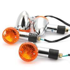 4x Chrome Bullet Turn Signals Lights For Suzuki Boulevard C109R C50 C90