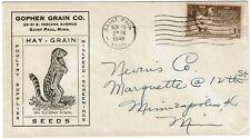 1948 Saint Paul, Mn cancel on cover for Gopher Grain Co.