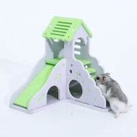 Pet Rat Hamster Wooden Climbing Ladder House Cage Nest Playing Toy for Squirrel