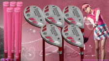 "Women's iDrive Golf Clubs All Ladies Pink Hybrid (3-7) Set Lady ""L"" Flex Clubs"