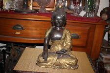 Antique Chinese Bronze Brass Buddha Statue-Dragons-Religious Spirituality-Asian