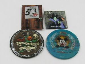 Disneyana Convention / WDAC Mixed Pinback Button Lot of 4