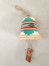 "Southwest 2"" Bell Ornament with Copper Dangle"