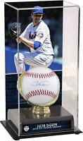 Jacob deGrom Mets Signed Baseball & 2018 NL Cy Young Award GG Case with Image