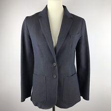 Chloé Designer Blazer Jacket Women's EU 40 US 8 Navy Patch Pockets 2 Buttons