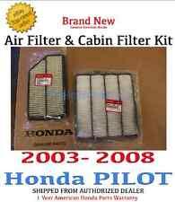 Genuine OEM Honda Pilot Engine Air & Cabin Filter 2003-2008