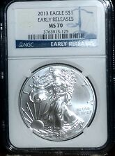 2013 NGC MS 70 American Silver Eagle - Early Release Blue Label