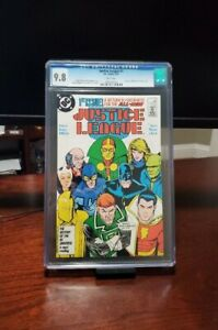 Justice League 1 cgc 9.8 1987 1st appearance Maxwell Lord Black King White Pages