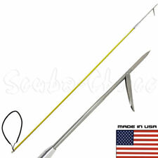 6' One Piece Spearfishing Fiber Glass Pole Spear w/ 1 Prong Single Barb Tip