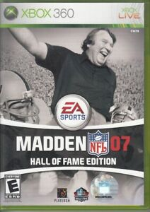 Madden NFL 07 -- Hall of Fame Edition (Microsoft Xbox 360, 2006)