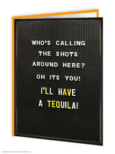 Brainbox Candy funny tequila shots birthday greeting cards novelty cheeky joke