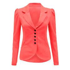 Cappotti e giacche da donna rosa formale con bottone