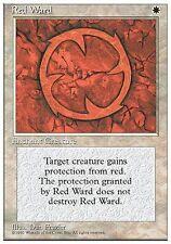 ▼▲▼ 2x Rune de garde rouge (Red Ward) 4th #44 FRENCH Magic MTG