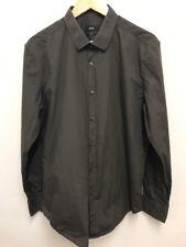 "Hugo Boss Mens Long Sleeve Collared Smart Slim Fit Dressy Shirt Size 44 - 17.5"""