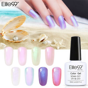Elite99 10ML Shell Colour Gel Nail Polish Lacquer Top Base Coat Manicure UV LED