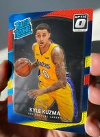 KYLE KUZMA-ROOKIE 2017/18 Optic Rated Rookie Red Yellow Blue SP RC Lakers #174