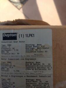 Brand New Dayton Model 1L469 (1LPK1) DC Industrial Gear Motor