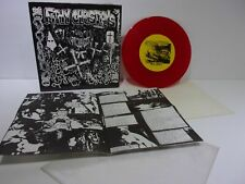 "G-Anx / Filthy Christians Gore Core Records 001 33RPM 7"" EP Red Clear Grade: VG+"