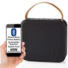 45W Waterproof Bluetooth Speaker -BLACK- Wireless Portable Rechargeable BASS AUX