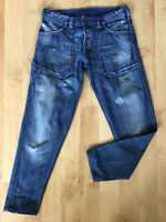 Diesel Men's jeans size 31 Grey washed straight leg thick cargo style Blue