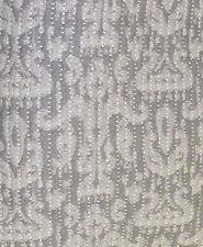Upholstery Weight Grey Damask Matelasse Designer Fabric-7 YDs
