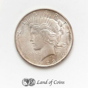 UNITED STATES: 1 x 1 US 1922 Peace Dollar Silver 0.900 Coin.