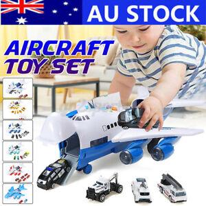 Music Story Simulation Track Inertia Children's Toy Aircraft Storage Car Plane